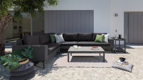 The quality of the outdoor fabric used on our lounges and daybeds are designed to withstand the harsh Australian climate. They are designed to withstand hours of sun, wind, rain, water and water damage and are made to prevent both mildew and fading. Indoor lounges on the other hand don't need to be so tough and weather resistant - so are usually made from cheaper materials.