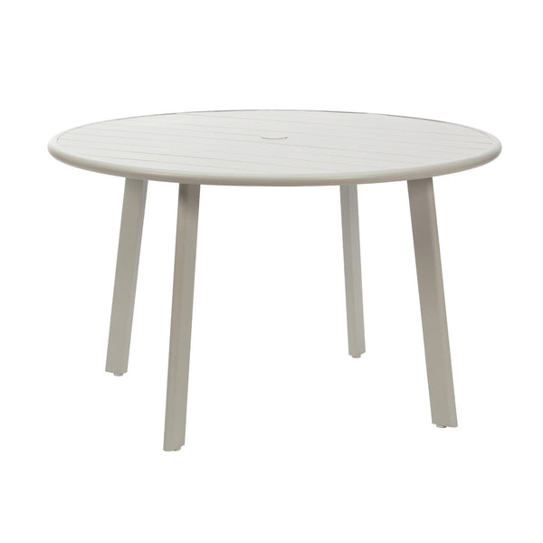 Aluminium Slat Table with Umbrella Hole
