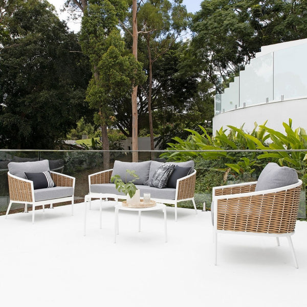 Artemis Lounge Setting - White/Natural
