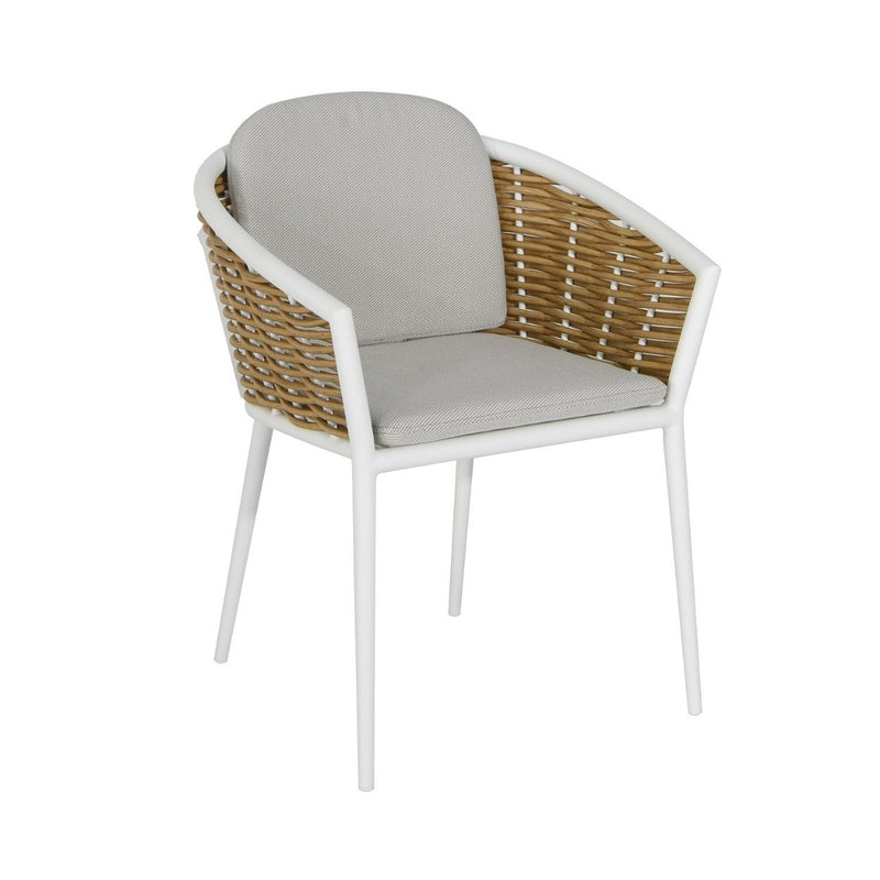 Artemis Dining Chair - White/Natural
