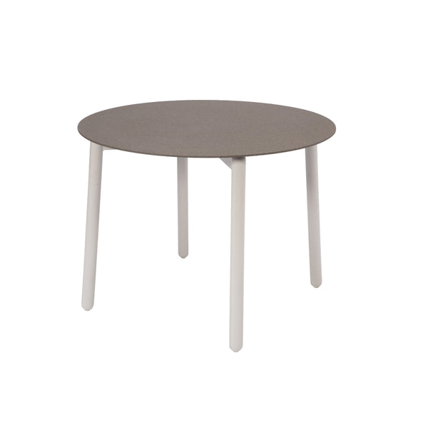 Round Spray Stone Table with Aluminium legs