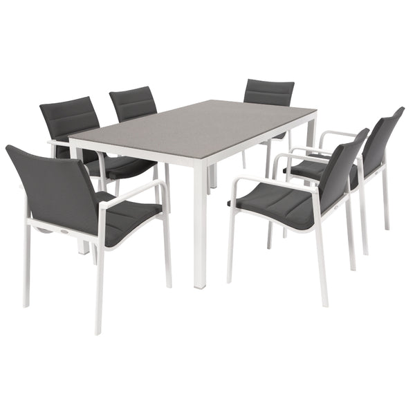 Frejus Dining Table - Charcoal