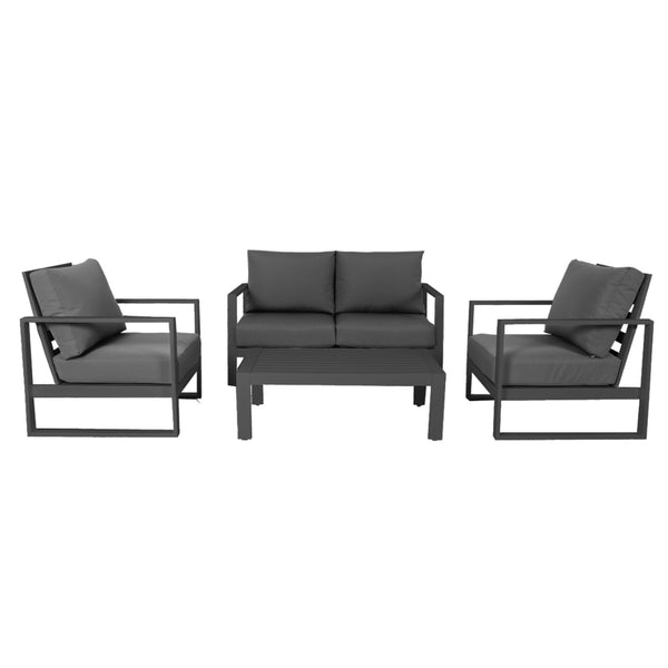 Cadiz Outdoor Lounge Setting - Double (Gunmetal)
