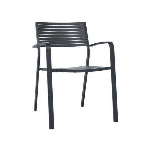 Vienna Slat Outdoor Chair - Charcoal