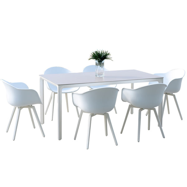 Milan Outdoor Table - White