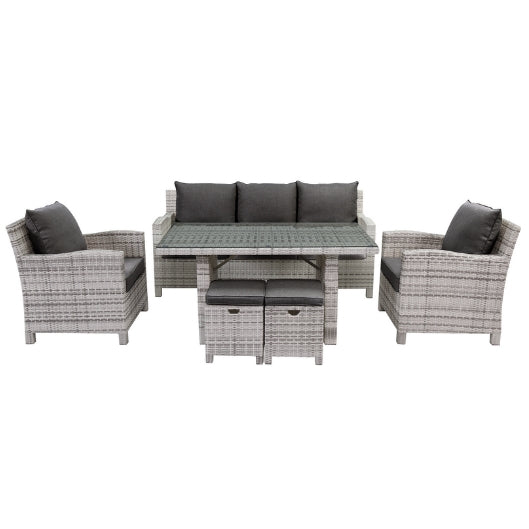 Norfolk 6 pce Casual Outdoor Dining Lounge Setting
