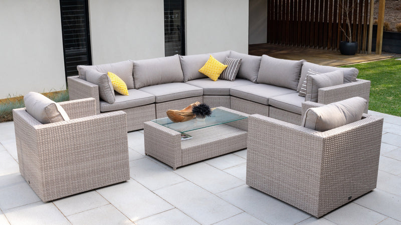 Porto modular outdoor setting available at Eden Living