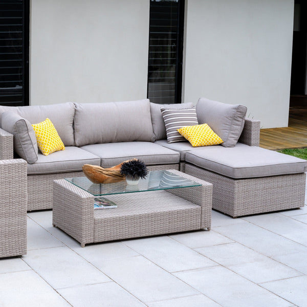 Porto outdoor modular setting made with hand woven UV wicker