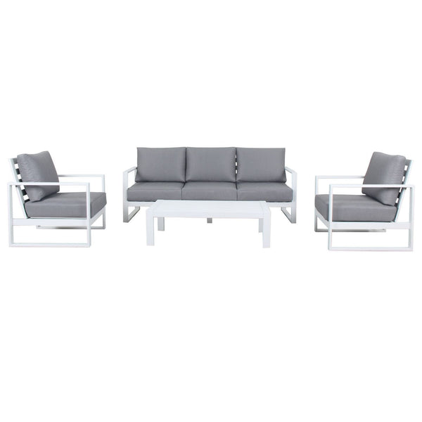 Cadiz Outdoor Lounge Setting - Triple (White)