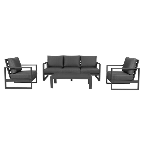 Cadiz Outdoor Lounge Setting - Triple  (Gunmetal)