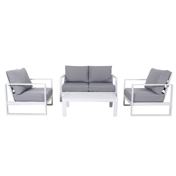 Cadiz Outdoor Lounge Setting - Double (White)