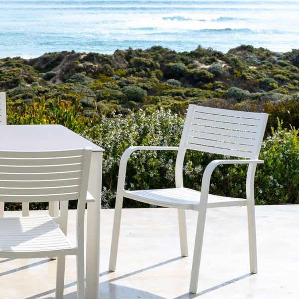 Vienna Slat Outdoor Chair - Shell