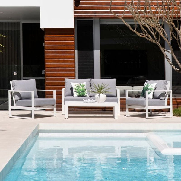 Cadiz 4 Pce Aluminium Outdoor Lounge Setting