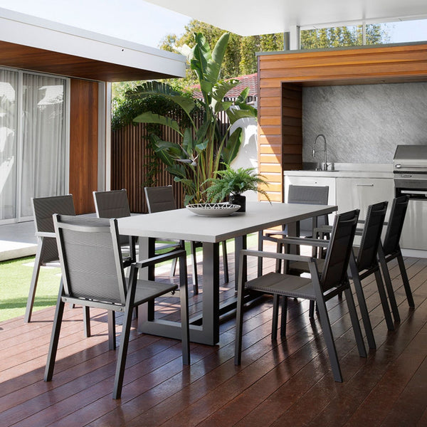 Sleek GRC Table & Mikado Chairs