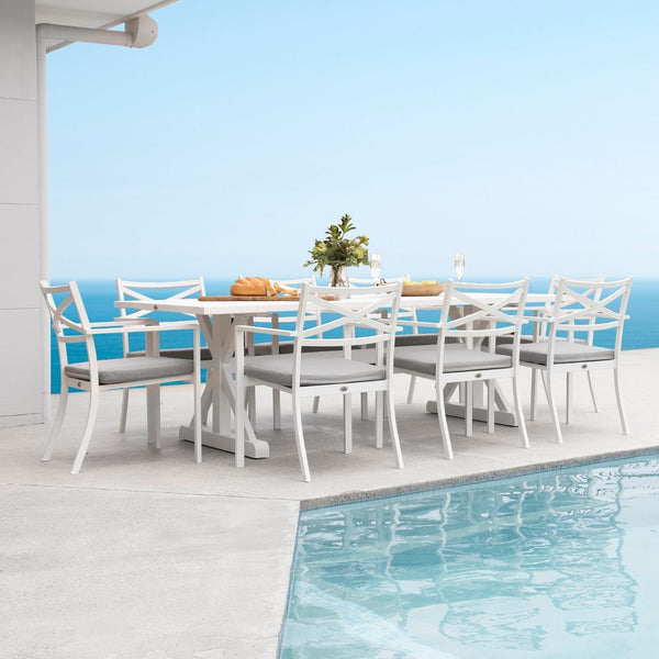 Hamptons Dining Setting - White Top
