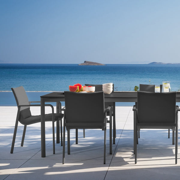 Frejus & Cassis Dining Setting - Charcoal