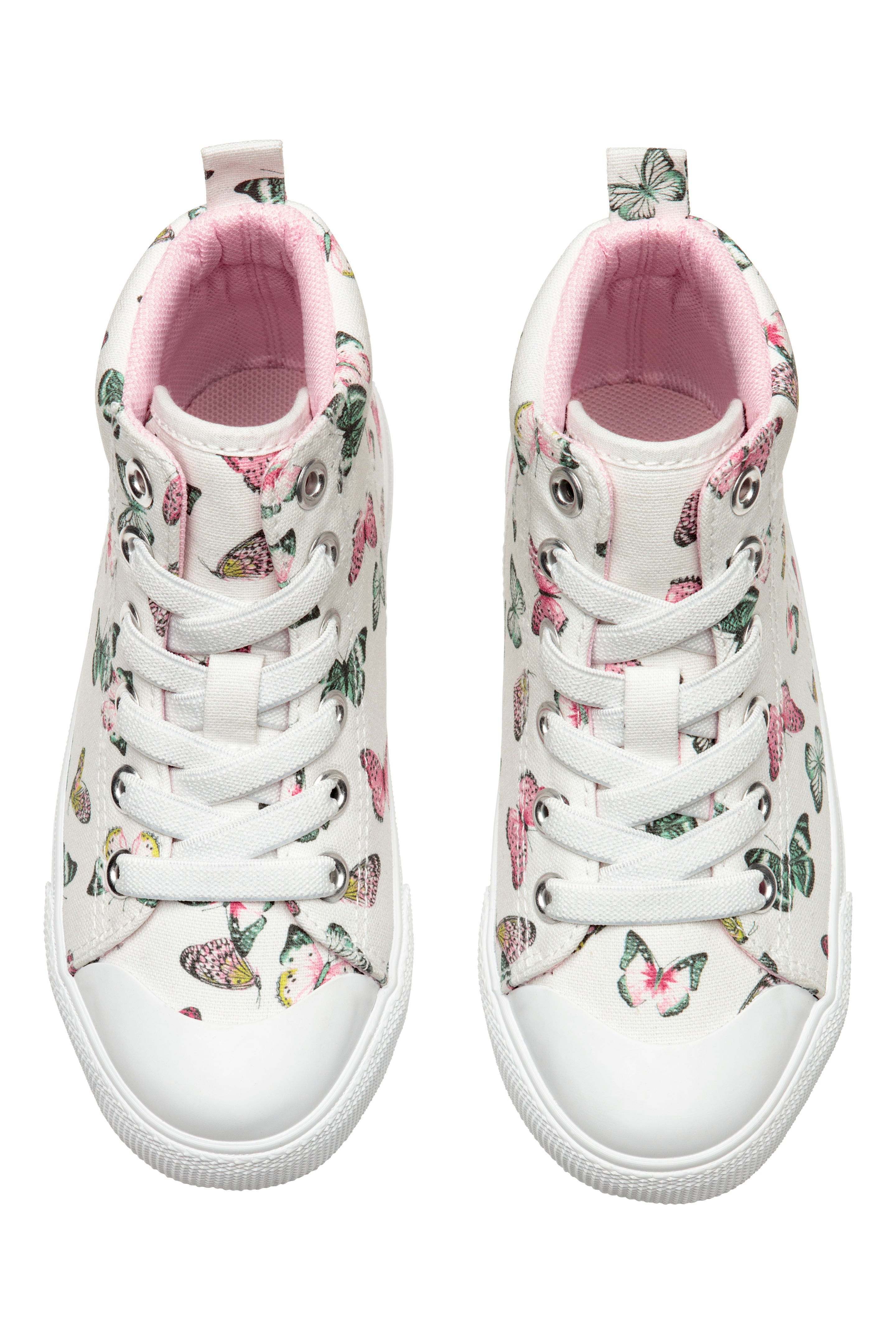 H M Hi Top Girl Trainers 29 White