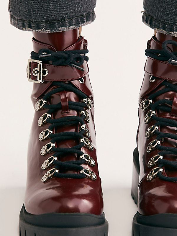 Lace-up Leather Martin Boots