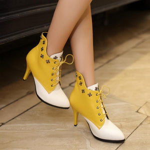 Stiletto Rivet Boots