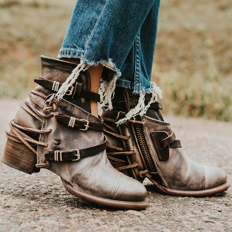 Vintage Buckle Boots