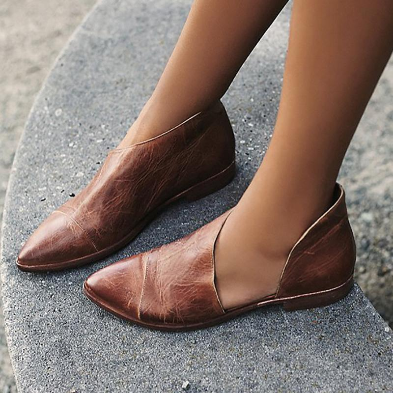 Pointed Toe Loafers Flats