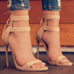 Lace-up High Heel Sandals