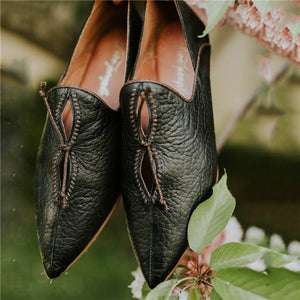Pointed Toe Flats Soft Leather Loafers