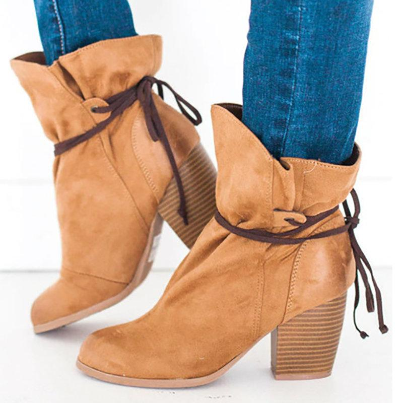 Color Block Straps Boots