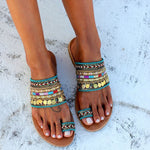 Bohemian Sequin Slippers