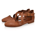 Soft Leather Flat Sandals
