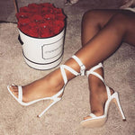 Cross Strap High Heel Sandals