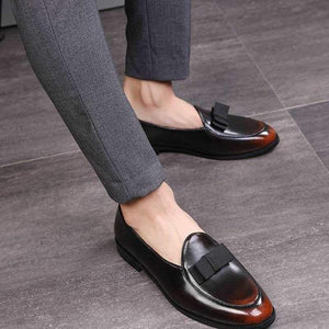 Retro Leather Loafers