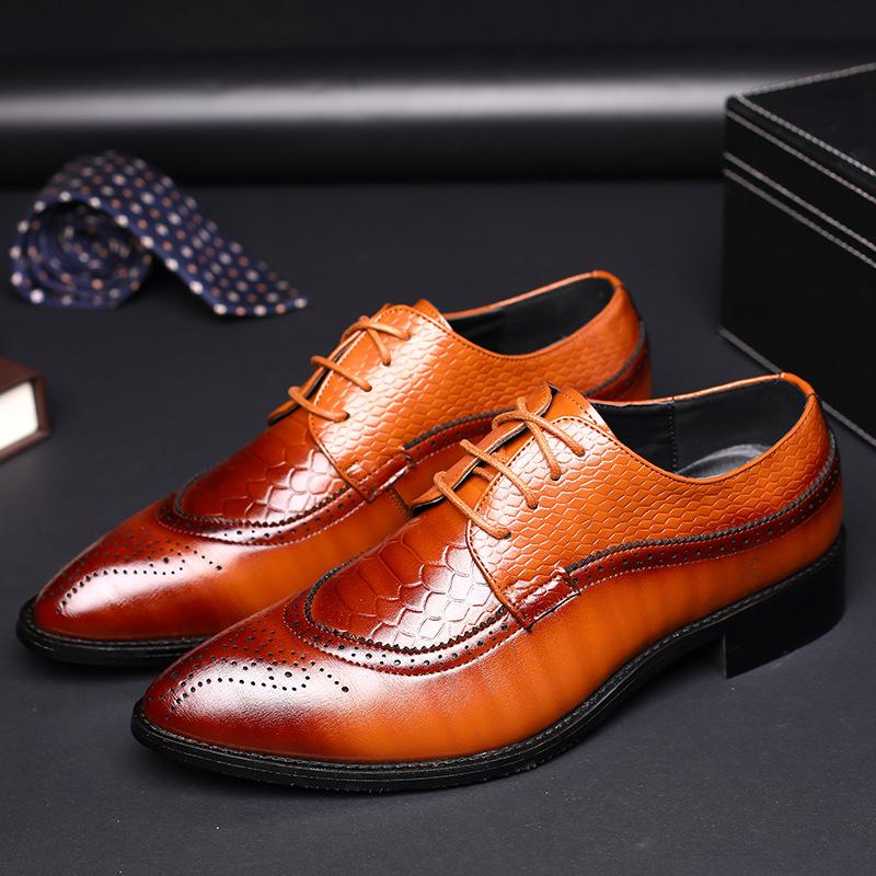 Bullock Carved Leather Shoes Dress Shoes