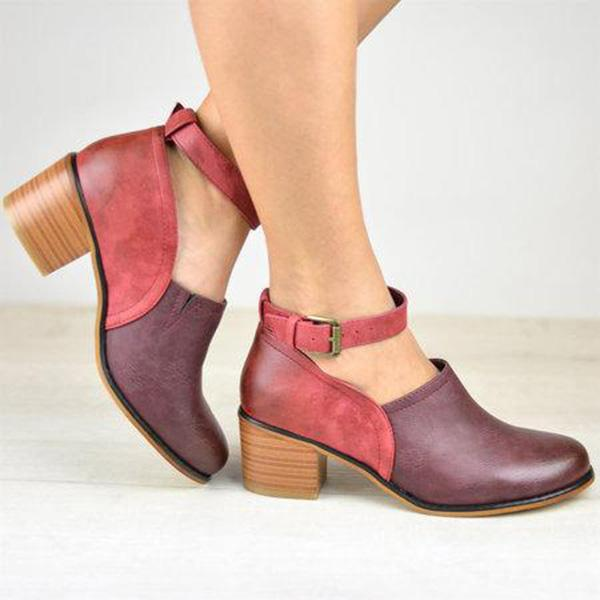 Color Block Women's Shoes