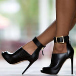 Belt Buckle Stiletto High Heels