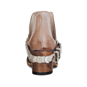 Vintage Alomond Toe High Buckle Boots