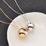 Secret Message Ball/Locket Pendant , Silver or Gold
