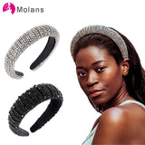 Limited Edition, Elegant High Quality Sparking Padded Rhinestone Headbands, Full Crystal
