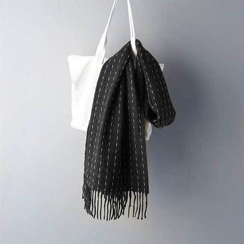 Long Warm Cashmere Scarf for Men
