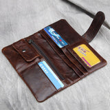 Classic and Beautiful Oil Wax Genuine Leather Wallet. Coin & Credit Card Holder