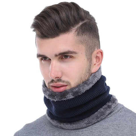 Men Knitted & Faux Fur Scarves/Collar For Men