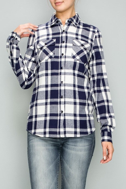 *FINAL SALE* Pretty in Plaid Top