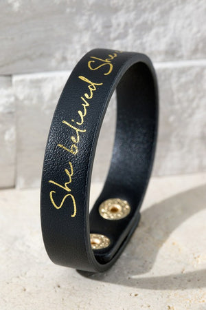"""She Believed She Could"" Bracelet - Jane & Kate"