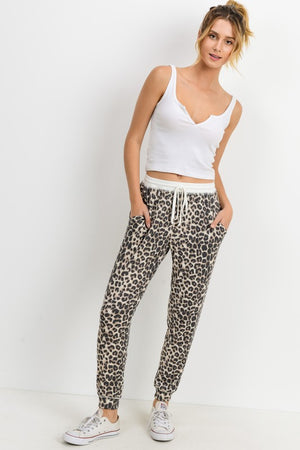 The Lazy Day Leopard Joggers