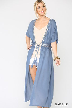 The Andrea Kimono - SLATE BLUE - Jane & Kate