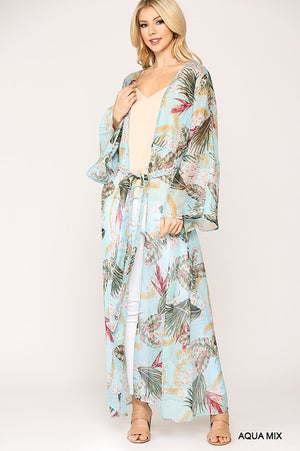 The Trisha Kimono - AQUA MIX - Jane & Kate