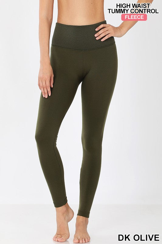 *FINAL SALE* Fleece Lined Tummy Control Leggings