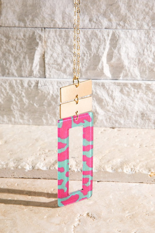 The Nina Necklace - HOT PINK