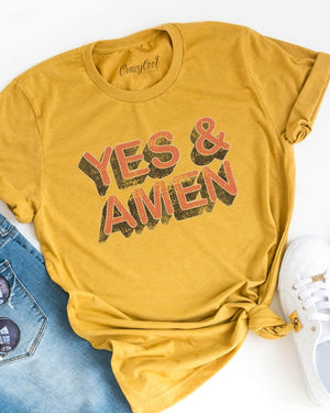"""Yes & Amen"" Graphic Tee - Jane & Kate"