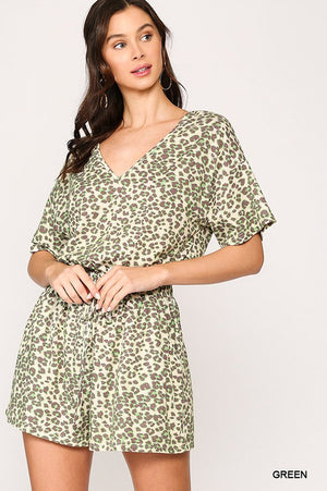 The Savannah Romper - GREEN - Jane & Kate